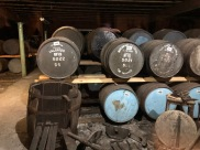 The glorious storage room at Talisker. Some of the barrels don't make it...