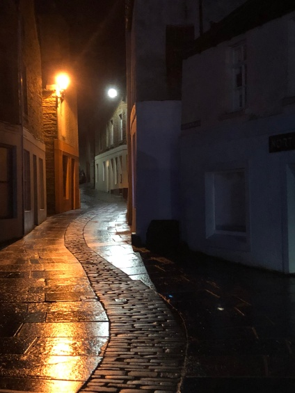 The deserted streets of Stromness
