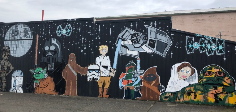 Mural at Sucher & Sons Star Wars Shop