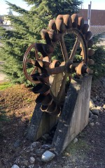 Cool old (Water? Mining?) wheel outside the Granite Falls Museum