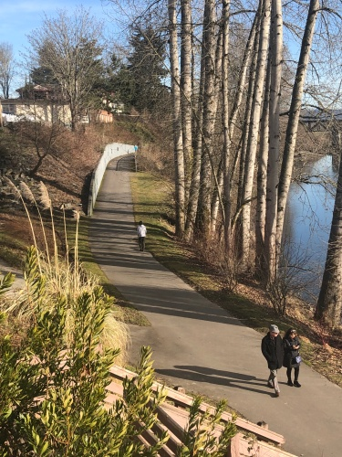 Walk off all those treats on the Snohomish River Trail in downtown Snohomish