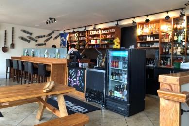 Upstairs dining and bar at Barkada