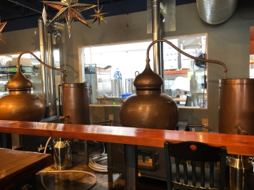 The distilling operation at Bluewater Organic Distilling