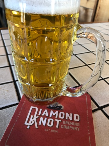 Delicious Kolsch-style beer at Diamond Knot