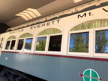 The historic Interurban Trolley Car #55