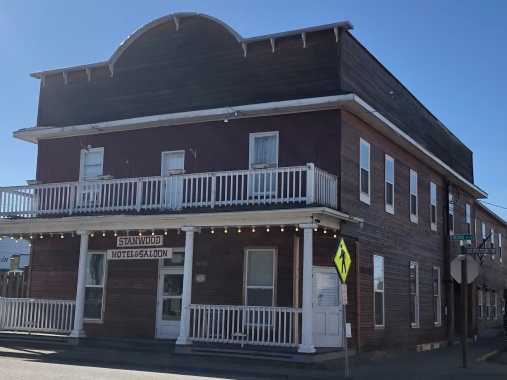 Great old Stanwood Hotel and Saloon. It's haunted!