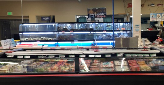 Just a small part of the seafood section