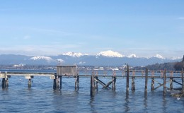 A gorgeous view of the Olympics from the Mukilteo Docks