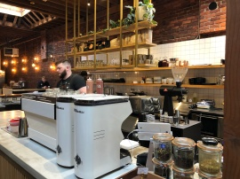 Making delicious coffee at Narrative Coffee