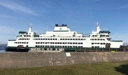 The newest ferry in the fleet, the Suquamish. (Olympic Class, 144-car ferry, 1500 passengers, Oct 4 2018. )