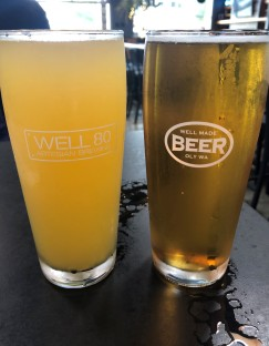 Whitewood Cider on the left and the excellent Leopold's #1 Lager on the right. It's the water!