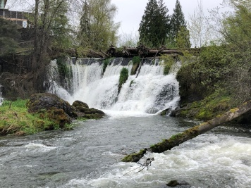 Tumwater Falls and the Deschutes River