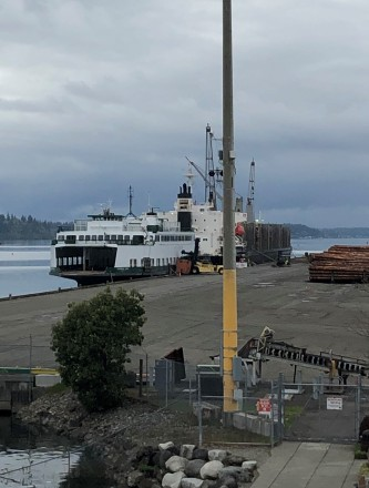 Ferry repairs down on the docks - Near Anthony's Homeport