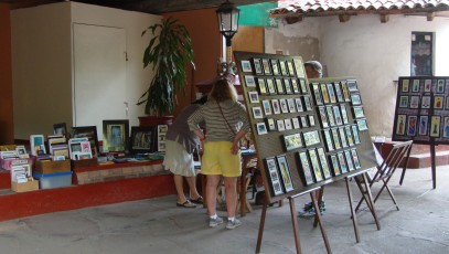 Marisa's artwork in the Cuale Island Flea Market