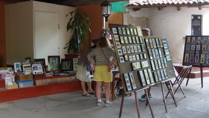 Marisa's artwork in the Cuale Island Flea Market