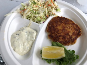 Delicious crab cakes at Dingey's Puget Sound Cuisine
