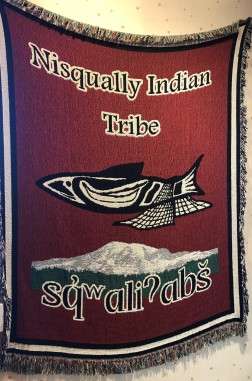 Nisqually Indian Tribe decor at the cafe