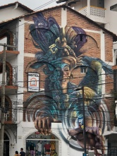 There are beautiful murals all around town