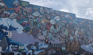 One of the very cool downtown Olympia murals