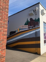 A very cool mural off of Jefferson Street in downtown Olympia
