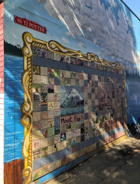 The SS TJ Potter mural celebrates the famous turn-of-last-century NW steamboat