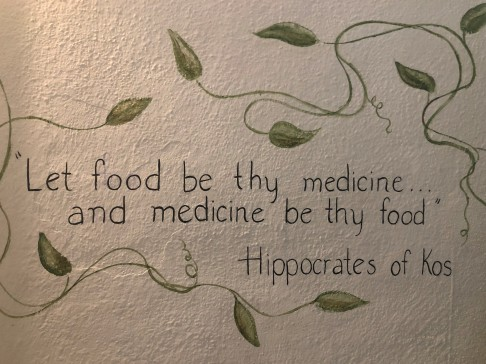 Words of wisdom on the walls of Salud Superfood...