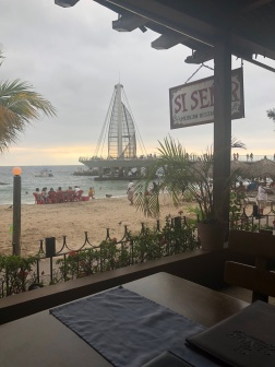 Looking out towards the pier from Si Senor's dining room