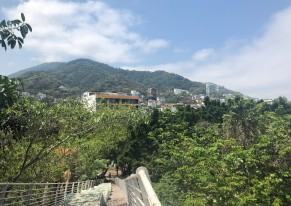 Looking out on Puerto Vallarta from La Iguana Bridge