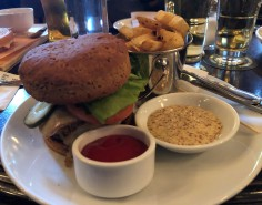 Tasty burgers at The Bard & Banker