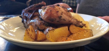 Classic roast chicken and potatoes