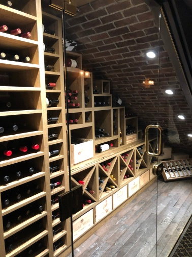 It's the cupboard under the stairs of wine!