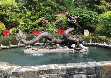 Beautiful dragon fountain