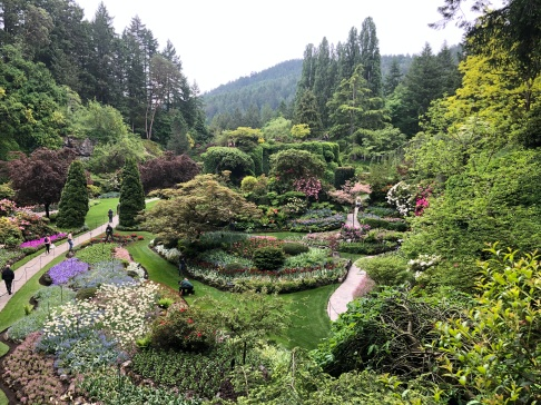Looking down into the famous Sunken Gardens