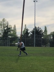 Caber tossing underway!