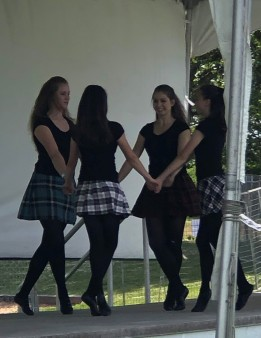 Some Scottish step dancers performing while we enjoyed lunch