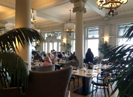 Peaking in on high tea at the Empress