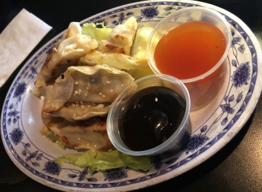 Tasty pan-fried pot stickers!