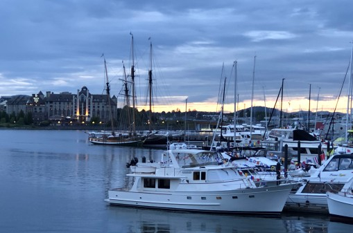 Beautiful sunset at the Inner Harbour