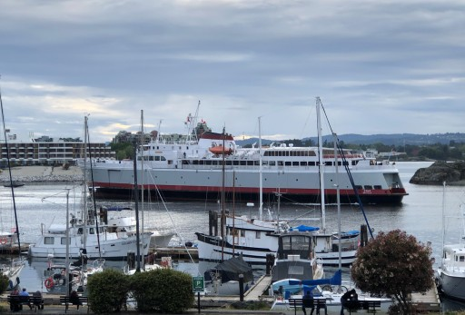 The MV Coho in the Inner Harbour