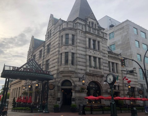 The stately Irish Times pub in downtown Victoria