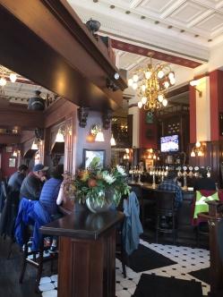 Traditional pub decor at the Irish Times