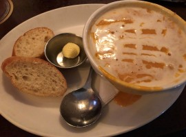 Delicious lobster bisque at the Irish Times