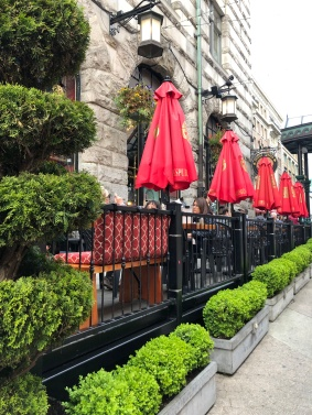 Outdoor seating at the Irish Times