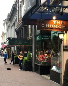 The Churchill Pub - right next door to Murchie's Tea!
