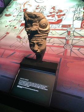 Artifacts from the Maya exhibit