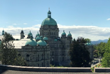 View of Parliament from the Royal BC Museum
