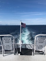 Looking back towards the US as we sailed on to Canada
