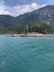 Mini islands in Diablo Lake