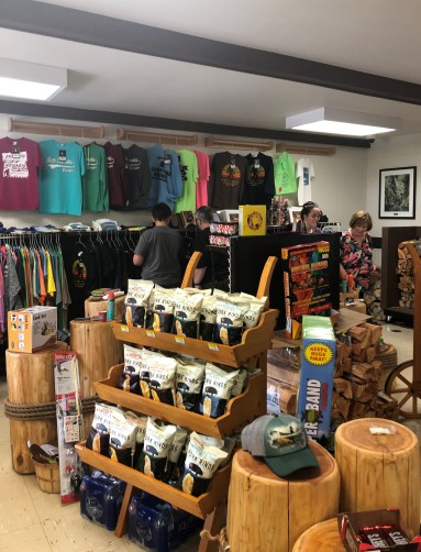 Shopping for BIGFOOT sweatshirts in the Skagit General Store