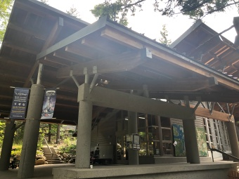 The gift shop and visitor center at the North Cascades Institute